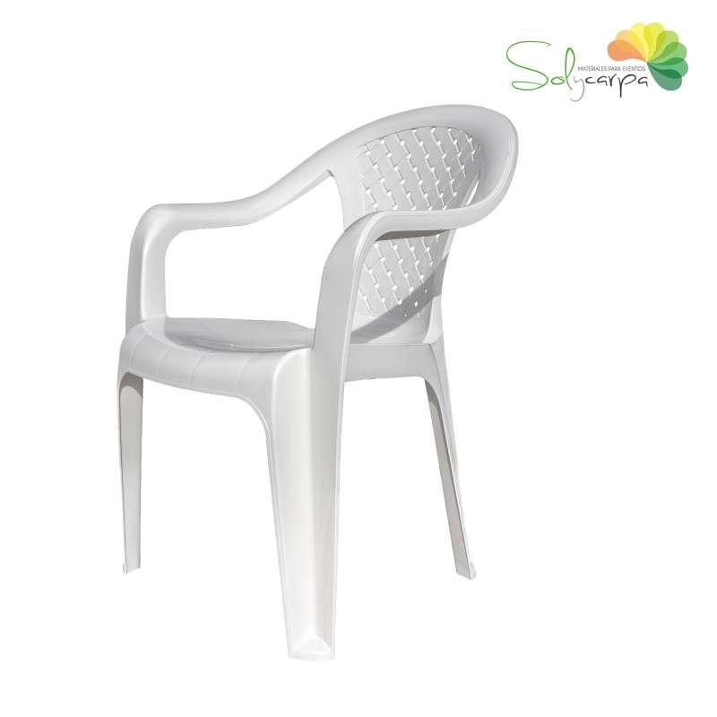 silla de plástico con brazos