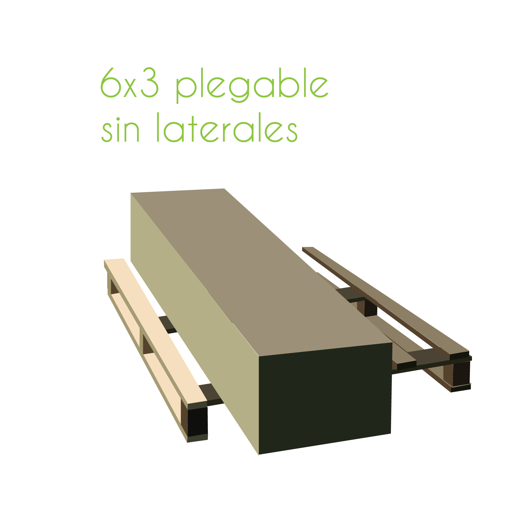 paletización carpa 6x3 plegable